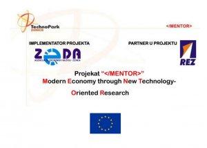 MENTOR – Moderna ekonomija kroz istraživanje novih tehnologija
