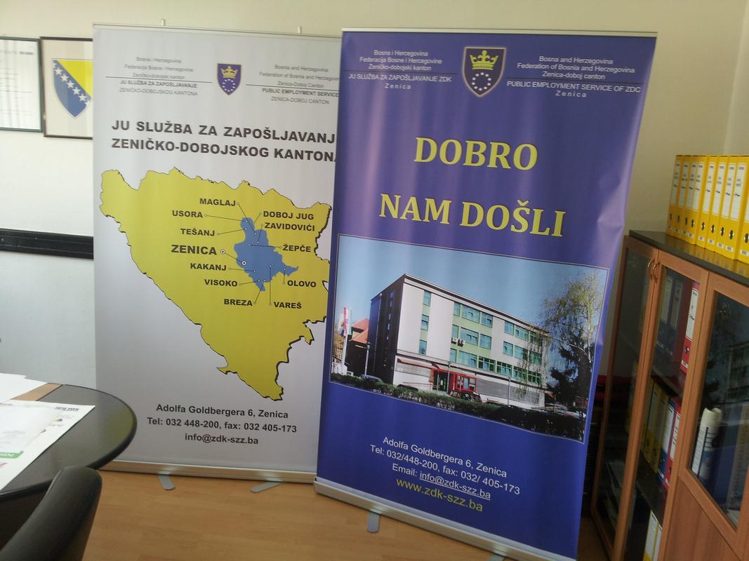 REZ Agencija - Radni sastanak sa osobljem JU Služba za zapošljavanje ZDK