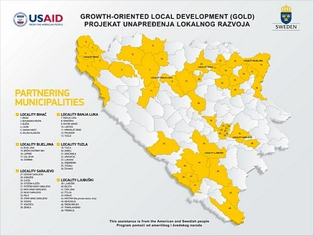 USAID/Sida GOLD Project - Implementation area