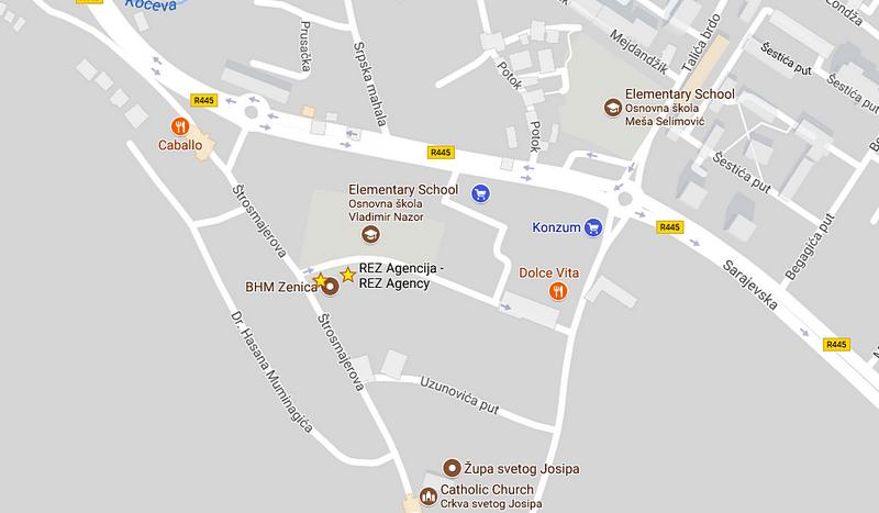 REZ Agencija - lokacija