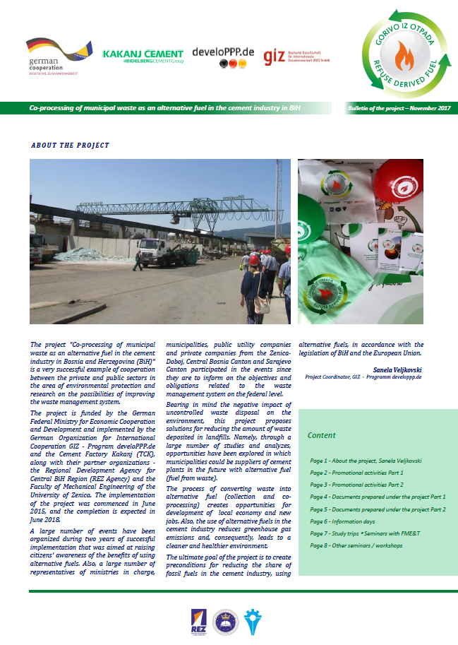 "Bulletin of the project ""Co-processing of municipal waste…"" 1"