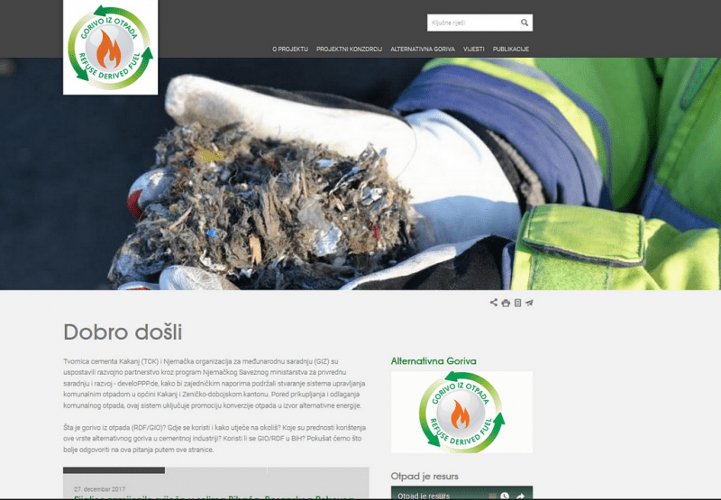 "Web page ""Alternative Fuel"" on the Internet 1"