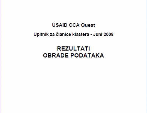 USAID CCA Project – Questionnaire for members of the Woodprocessing and Forestry Cluster of BiH