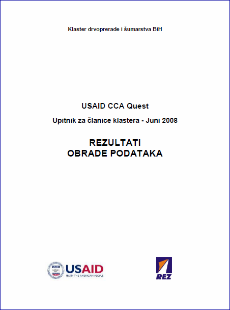 USAID CCA Project - Questionnaire for members of the Woodprocessing and Forestry Cluster of BiH 1