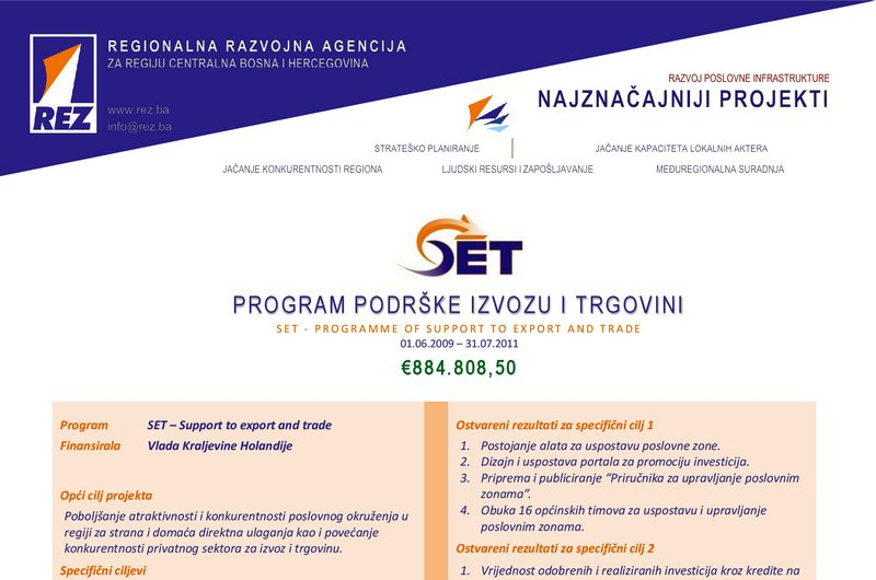 SET - Program podrške izvozu i trgovini