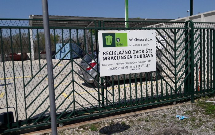 VG Čistoća, Reciklažno dvorište Mraclinska Dubrava