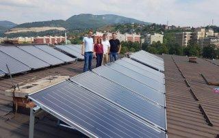 Ugrađeni solarni kolektori na zgradi JU Dom-Porodica u Zenici